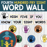 Fourth Fry Sight Words - High Five Word Wall