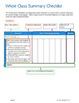 Fourth Grade (4th Grade) CCSS ELA Checklist and Report Doc