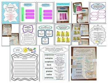 Fourth Grade (4th Grade) Reading Wonders Unit 1 Interactive Notebook  BUNDLE!!!