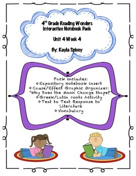 Fourth Grade (4th Grade) Reading Wonders Unit 4 Week 4 Int