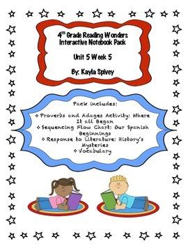 Fourth Grade (4th Grade) Reading Wonders Unit 5 Week 5 Int