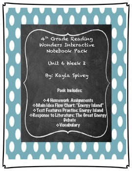 Fourth Grade (4th Grade) Reading Wonders Unit 6 Week 3 Int