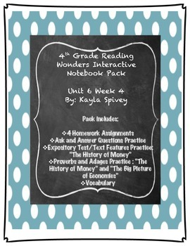 Fourth Grade (4th Grade) Reading Wonders Unit 6 Week 4 Int