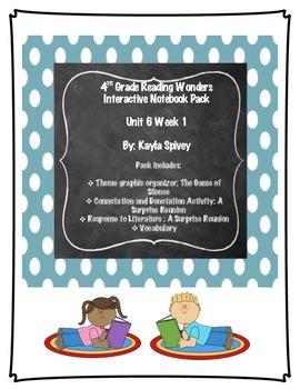 Fourth Grade (4th grade) Reading Wonders Unit 6 Week 1 Interactive Notebook