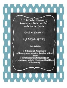 Fourth Grade (4th grade) Reading Wonders Unit 6 Week 2 Interactive Notebook