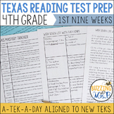 Fourth Grade A TEK-a-Day Reading Test Prep & Review, 1st N