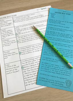 Fourth Grade A TEK-a-Day Reading Test Prep & Review, 2nd Nine Weeks
