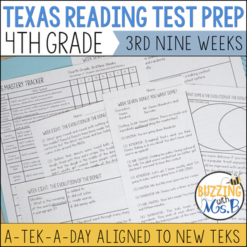 Fourth Grade Texas Reading Test Prep for the 3rd Nine Weeks