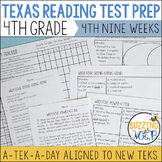Fourth Grade A TEK-a-Day Reading Test Prep & Review, 4th Nine Weeks