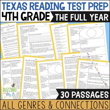Fourth Grade A TEK-a-Day Reading Test Prep & Review: The Big Bundle