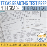 Fourth Grade Texas Reading Test Prep for the Whole year Bundle