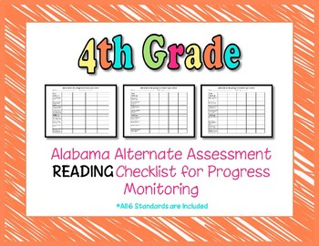 Fourth Grade AAA Reading Checklist Progress Monitoring