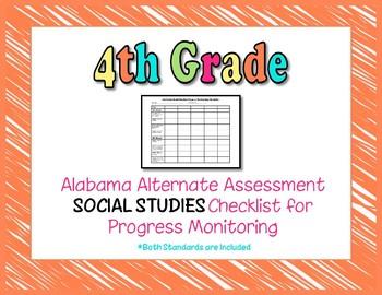 Fourth Grade AAA Social Studies Checklist Progress Monitoring