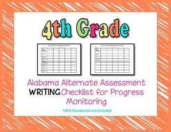 Fourth Grade AAA Writing Checklist Progress Monitoring