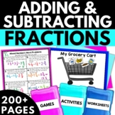 Add and Subtract Fractions with Like Denominators - Fraction Activities