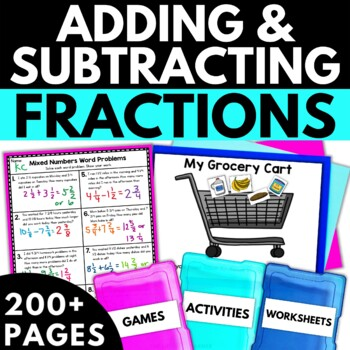 Adding And Subtracting Fractions With Like Denominators Worksheets ...