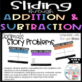 Fourth Grade Addition and Subtraction Digital Slides - Decimals Story Problems