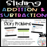 Fourth Grade Addition and Subtraction Digital Slides - Multi-Step Story Problems