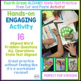 Fourth Grade Aligned Math State Test Practice Craftivity