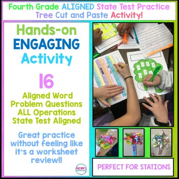 Fourth Grade Aligned Math State Test Practice Craftivity