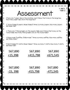 Fourth Grade Assessment