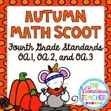 Fourth Grade Autumn Math Scoot 4.OA.A.1, 4.OA.A.2, 4.OA.A.3