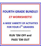 Fourth Grade BUNDLE Bargain - 27 Worksheets
