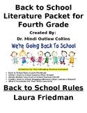 Fourth Grade Beginning of Year Literature Packet