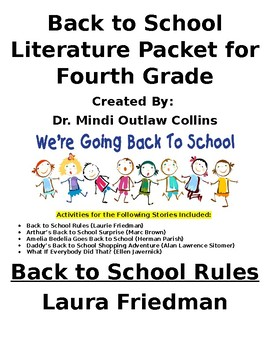 Fourth Grade Beginning of Year Literature Packet