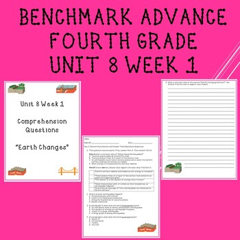 Fourth Grade Benchmark Advance Unit 8 Week 1 Comprehension Questions