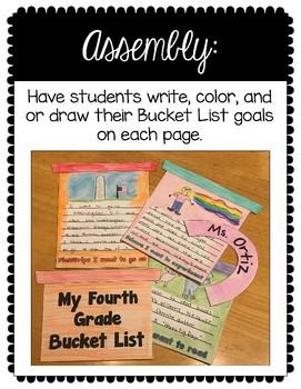 Growth Mindset: Fourth Grade Bucket List