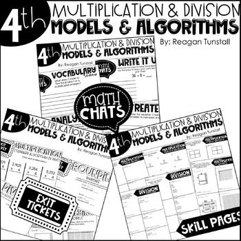 Fourth Grade Bundle Multiplication and Division Models & Algorithms