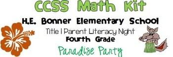 Fourth Grade CCSS Math Kit