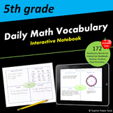 Fifth Grade CCSS Math Vocabulary Interactive Notebook