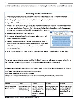 Fourth Grade CCSS Reading Lesson Plans for RL1-9 and RI1-9