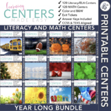 Fourth Grade Centers Math and Literacy — 4th Grade YEAR LONG BUNDLE
