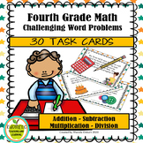 Fourth Grade Challenging Math Word Problem Task Cards