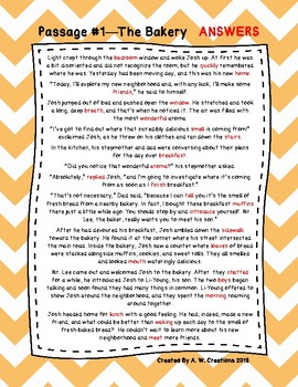 Fourth Grade Cloze Reading Passages ***FREEBIE***