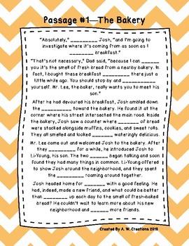 Fourth Grade Cloze Reading Passages Set A (Passages 1-10)