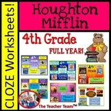 Houghton Mifflin Reading 4th Grade Cloze Worksheet Full Year Bundle