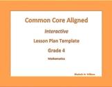 Fourth Grade Common Core Aligned Interactive Lesson Plan T