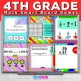 Fourth Grade Common Core Based Math SMART BOARD Game Bundle