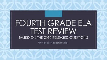 Fourth Grade Common Core ELA Test Review with NY State Released Questions 2015