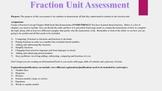 Fourth Grade Common Core Fraction Assessment