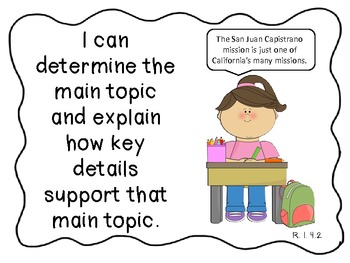 "Fourth Grade Common Core ""I Can"" Statement - Different graphics"