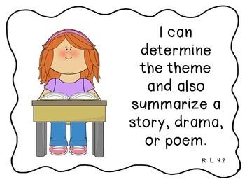 "Fourth Grade Common Core ""I Can"" Statement-Language"