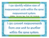 Fourth Grade Common Core I Can Statements - Measurement and Data