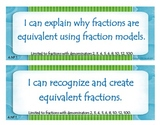 Fourth Grade Common Core I Can Statements - Numbers and Operations - Fractions