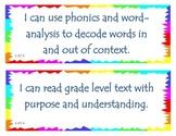 Fourth Grade Common Core I Can Statements - Reading Founda
