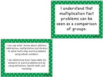 """Fourth Grade Common Core """"I Can"""" Task Cards"""